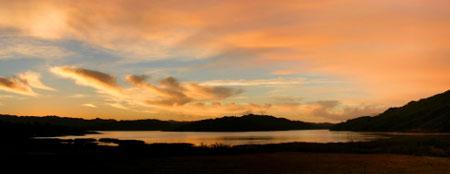 Ojai sunrise over lake casitas