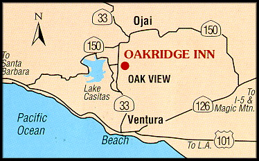 Ojai Hotel directions map