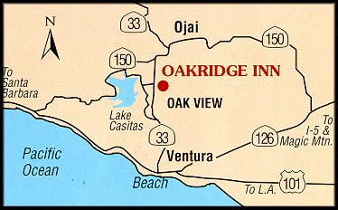 Ojai Hotel directions map